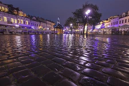 poland subcarpathia rzeszow main square in