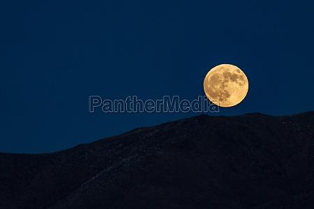 usa idaho bellevue full moon rising