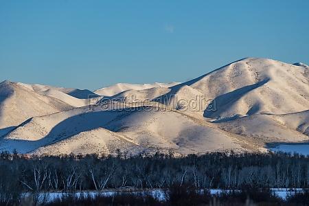 usa idaho bellevue landscape with snowy