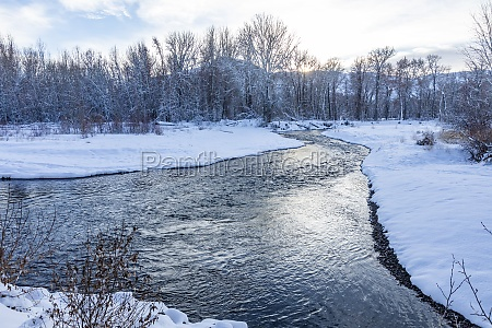 usa idaho bellevue winter landscape with
