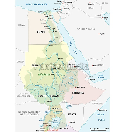 vector map of the nile river