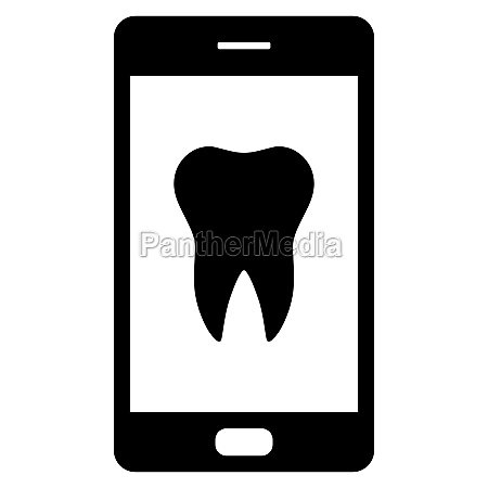tooth and smartphone