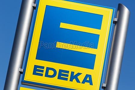 edeka logo sign supermarket food shop