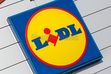 lidl logo sign supermarket discount shop