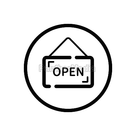 open notice label with text commerce