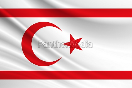 flag of turkish republic of northern