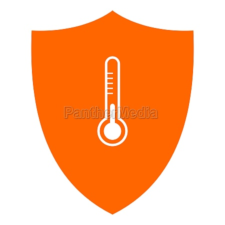 thermometer and shield