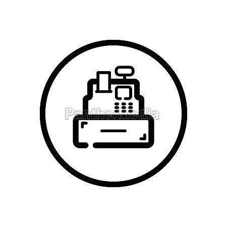 cash register cashier machine commerce outline