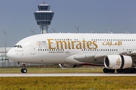 emirates airbus a380 800 airplane munich