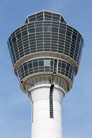 munich airport tower muc in germany