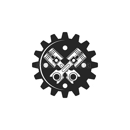 piston gear vector icon illustration design