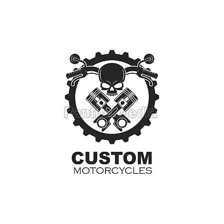 custom motorcycle vector illustration design