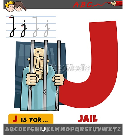 letter j from alphabet with jail