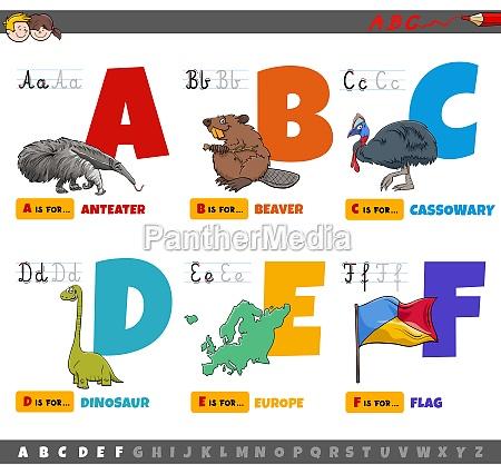 educational cartoon alphabet letters for kids