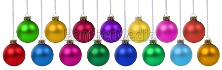 christmas balls baubles time decoration banner