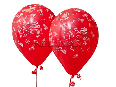 red balloons to celebrate graduation day