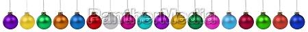 christmas balls baubles banner advent decoration