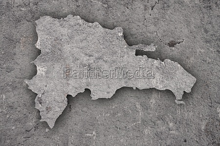 map of dominican republic on weathered