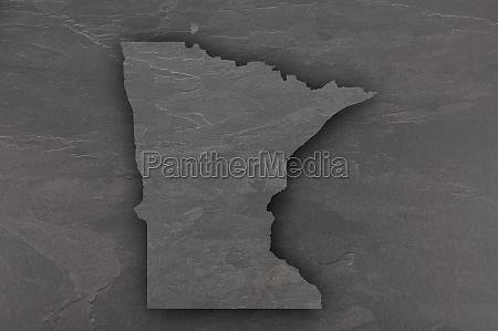 map of minnesota on dark slate