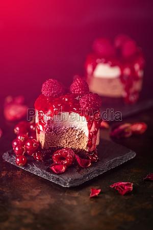 mini round mousse dessert