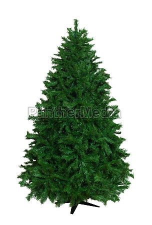 artificial christmas tree isolated on white