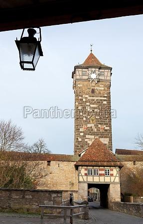 castle tower of rothenburg ob der