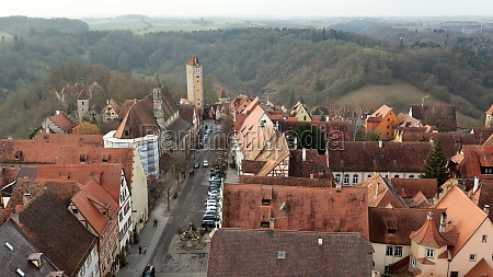 castle tower of rothenburg ob der