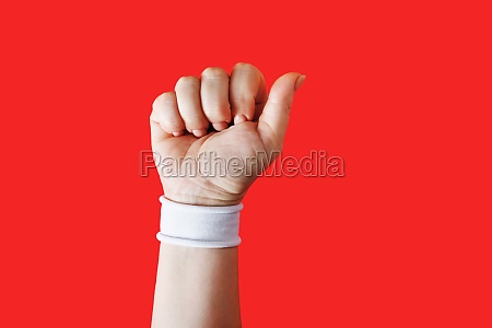 clenched fist female hand
