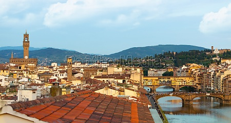 view over florence with the ponte