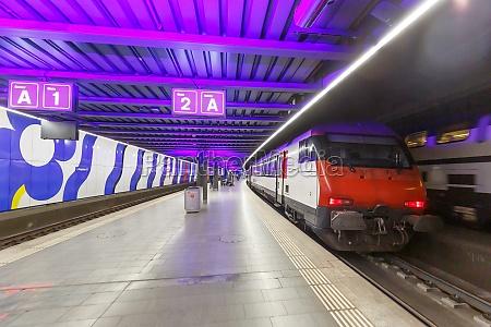 interregio train at zurich airport railway