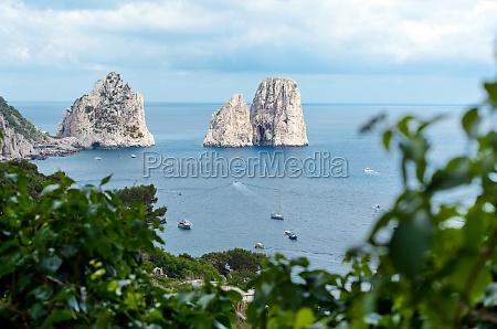 faraglioni famous giant rocks capri island