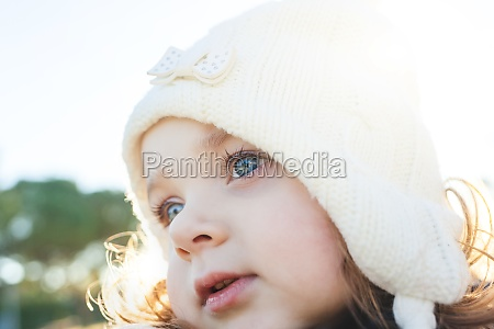 adorable toddler girl of two years