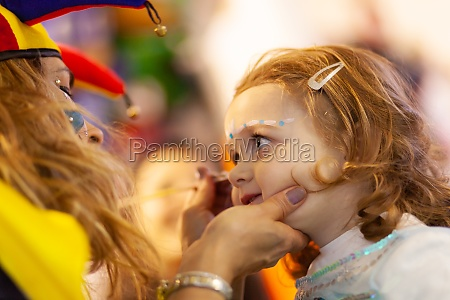 face painting for little girl