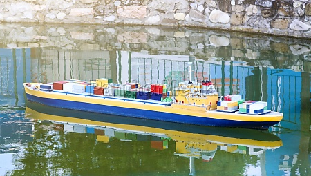 miniature of ship cargo containers