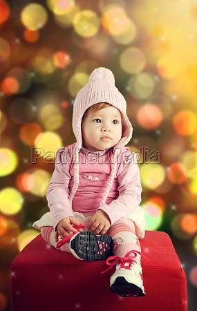 cute baby in christmas theme