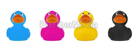 rubber duck cmyk concept