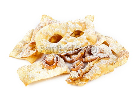 typical dessert italian carnival chiacchiere fries