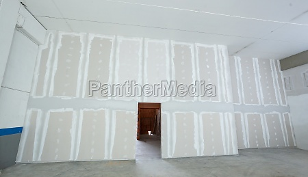 wall made from plasterboard drywall