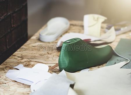 workplace of shoe designer