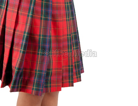 close up of a red skirt