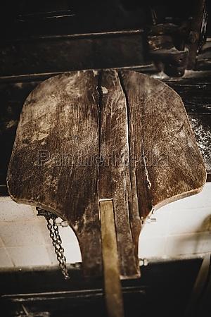 antique wooden oven shovel