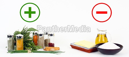 herbs and spices versus fats and