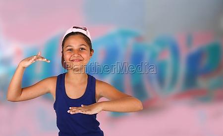 little girl dancing hip hop