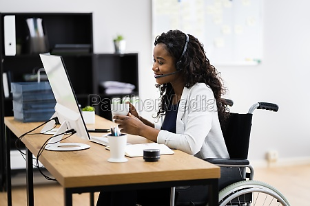 disabled black woman