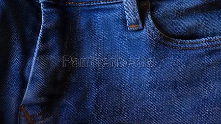 blue denim jeans close up detail