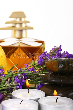 spa accessories and lavender