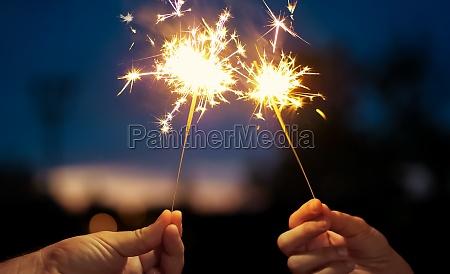 sparkling stars burning on night background