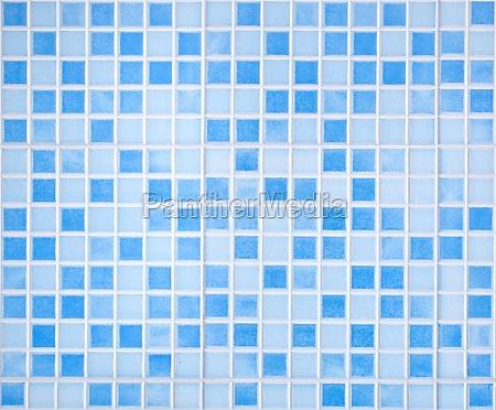 blue colored mosaic tiles