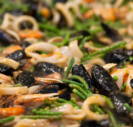 seafood paella at the streetfood festival
