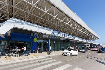 corfu airport cfu terminal in greece